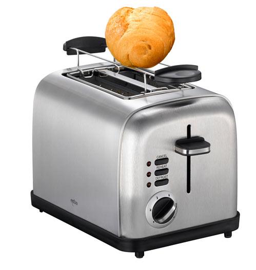 eleganter design edelstahl toaster exido 12140051 mit br tchenw rmer. Black Bedroom Furniture Sets. Home Design Ideas