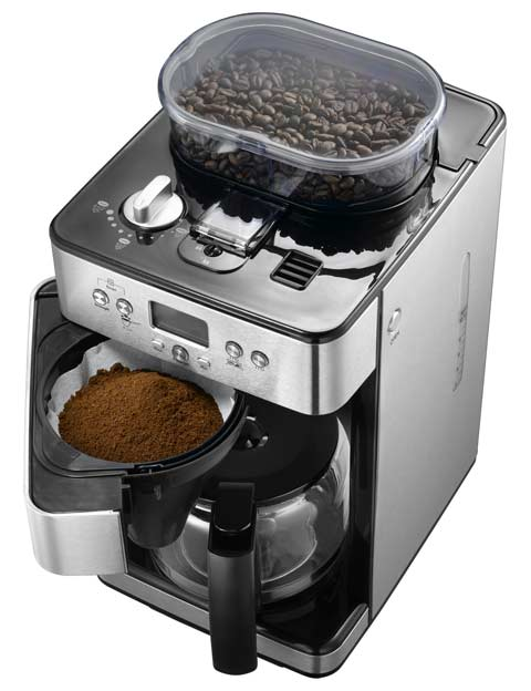 kaffeemaschine mit timer und kaffeem hle exido 245 104 kaffeeautomat ebay. Black Bedroom Furniture Sets. Home Design Ideas