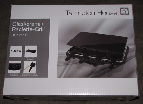 Glaskeramik raclette grill tarrington house rg1211g for Tarrington house grill