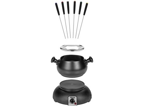 elektro fondue set und wok set 5 in 1 topf warmhalteplatte neu ebay. Black Bedroom Furniture Sets. Home Design Ideas