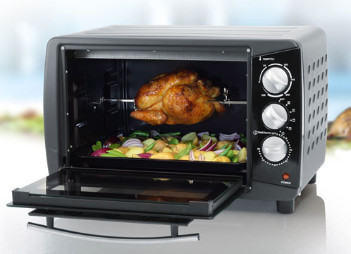 mini backofen mit drehspie 28 liter tristar ov 1418. Black Bedroom Furniture Sets. Home Design Ideas
